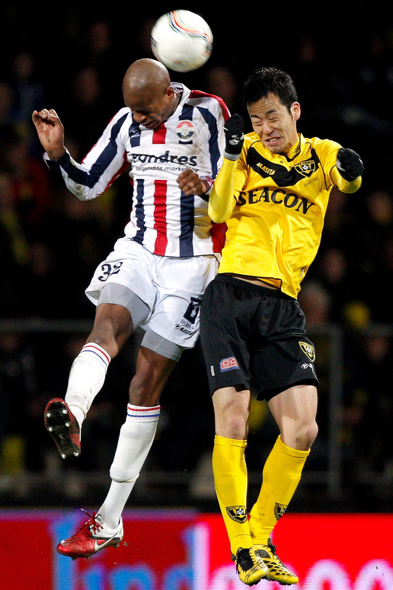 Onderwerp/Subject: VVV Venlo - Willem II - Eredivisie Reklame: Club/Team/Country: VVV Venlo - Willem II Seizoen/Season: 2010/2011 FOTO/PHOTO: VVV Venlo's Maya YOSHIDA (R) in duel with Willem II's Rangelo JANGA (L). (Photo by PICS UNITED) Trefwoorden/Keywords: #04 #17 $38 ±1279289473015 Photo- & Copyrights © PICS UNITED P.O. Box 7164 - 5605 BE EINDHOVEN (THE NETHERLANDS) Phone +31 (0)40 296 28 00 Fax +31 (0) 40 248 47 43 http://www.pics-united.com e-mail : sales@pics-united.com (If you would like to raise any issues regarding any aspects of products / service of PICS UNITED) or e-mail : sales@pics-united.com ATTENTIE: Publicatie ook bij aanbieding door derden is slechts toegestaan na verkregen toestemming van Pics United. VOLLEDIGE NAAMSVERMELDING IS VERPLICHT! (© PICS UNITED/Naam Fotograaf, zie veld 4 van de bestandsinfo 'credits') ATTENTION: © Pics United. Reproduction/publication of this photo by any parties is only permitted after authorisation is sought and obtained from PICS UNITED- THE NETHERLANDS
