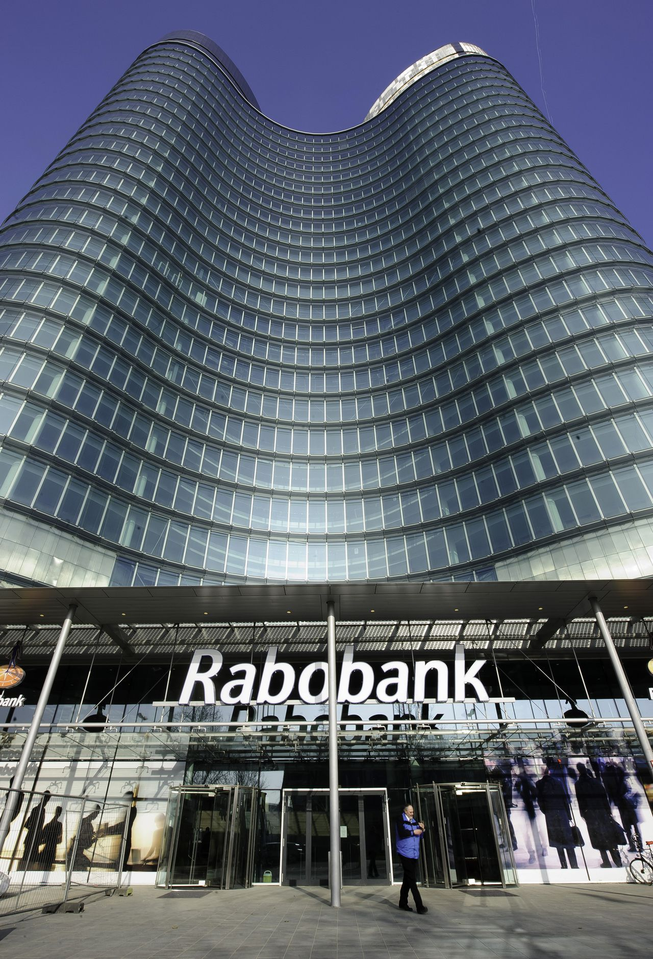 The headquarters of Rabobank Groep NV stand in Utrecht, the Netherlands, on Wednesday, March 2, 2011. Rabobank Groep's profit rose to 2.77 billion euros ($3.84 billion) in 2010 from 2.21 billion euros a year earlier, the world's biggest agricultural lender said today in a statement handed out at its headquarters in Utrecht, the Netherlands. Photographer: Jock Fistick/Bloomberg
