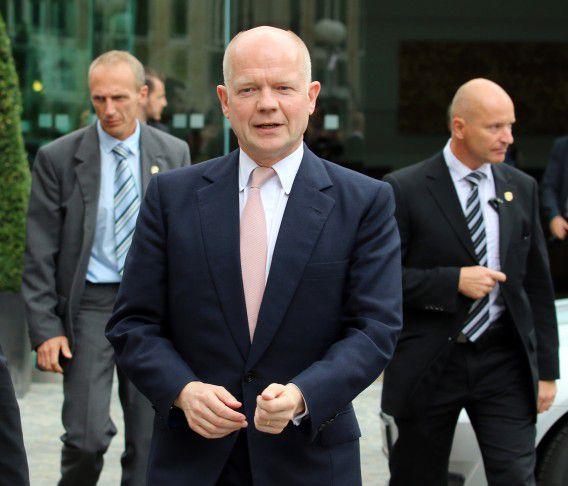 De aftredend minister van Buitenlandse Zaken William Hague.