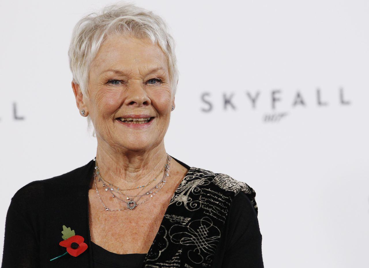 "Actor Judi Dench poses while launching the start of production of the new James Bond film ""SkyFall"" at a restaurant in London November 3, 2011. Daniel Craig returns as British secret agent James Bond in ""Skyfall"" the 23rd instalment in one of the world's longest-running and most successful film franchises. Director Sam Mendes assured fans that Bond's latest adventure would adhere to the high octane formula that has made the films an enduring genre since Sean Connery first played the suave agent licensed to kill nearly 50 years ago in ""Dr. No"". REUTERS/Luke MacGregor (BRITAIN - Tags: ENTERTAINMENT PROFILE SOCIETY)"