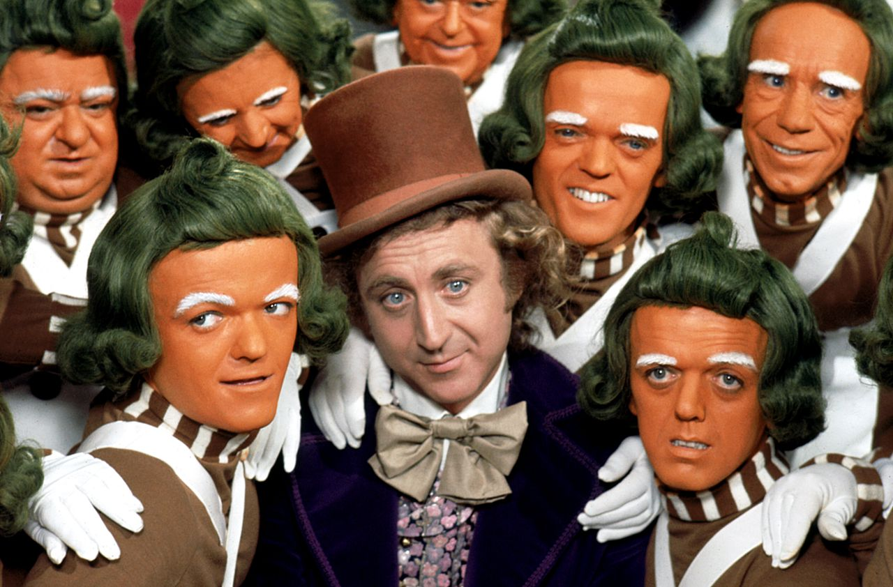 Gene Wilder in zijn bekendste rol: als Willy Wonka in de film Willy Wonka and the Chocolate Factory (1971).