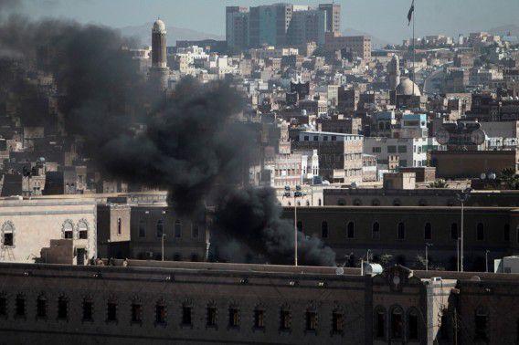 Rook afkomstig van het Jemenitische ministerie van Defensie.
