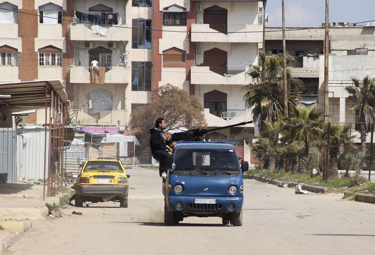 Rebellen in Homs.