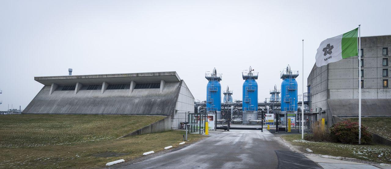 De gasopslag van de Nederlandse Aardolie Maatschappij (NAM) in Langelo.