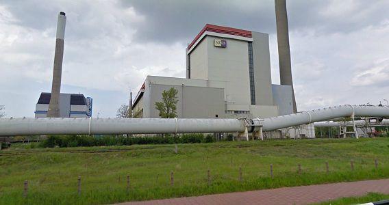 De Nuon-centrale in Velsen-Noord. Beeld Google Streetview