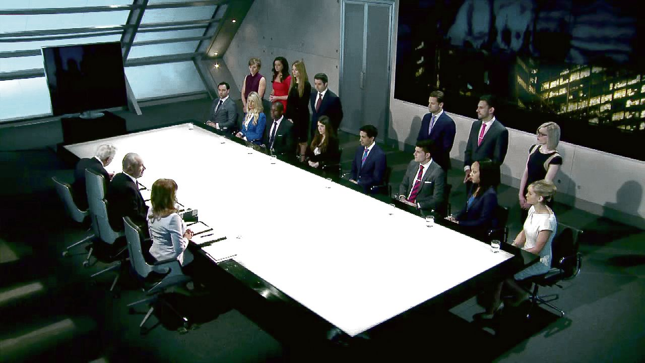 In de boardroom van 'The Apprentice' (BBC1).