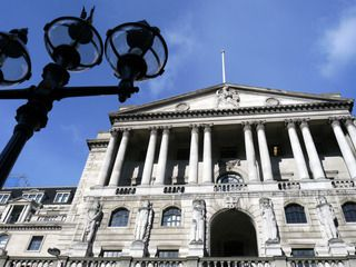 Programme Name: Bankers - TX: n/a - Episode: n/a (No. n/a) - Embargoed for publication until: n/a - Picture Shows: Exterior of Bank of England, Threadneedle Street - (C) BBC - Photographer: Alex Barrett