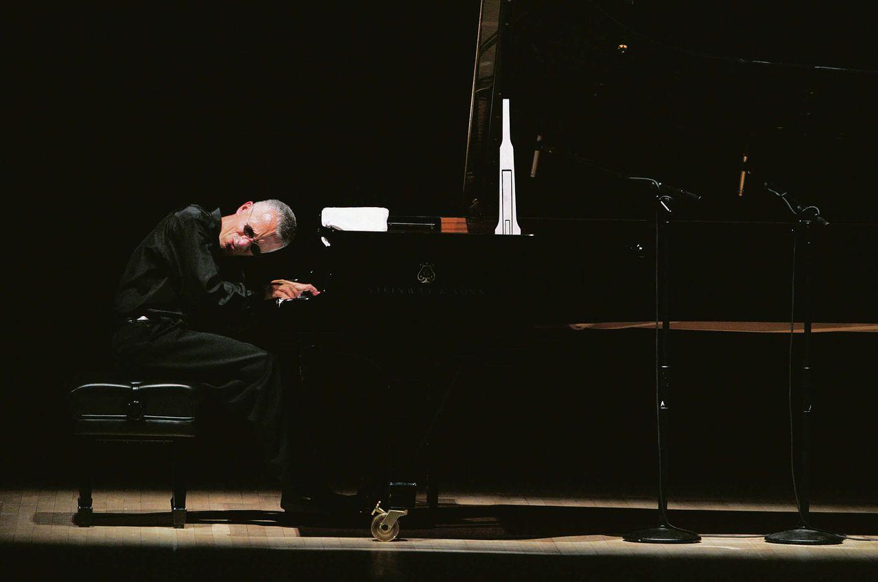 Keith Jarrett tijdens een concert in Carnegie Hall in New York, 2005