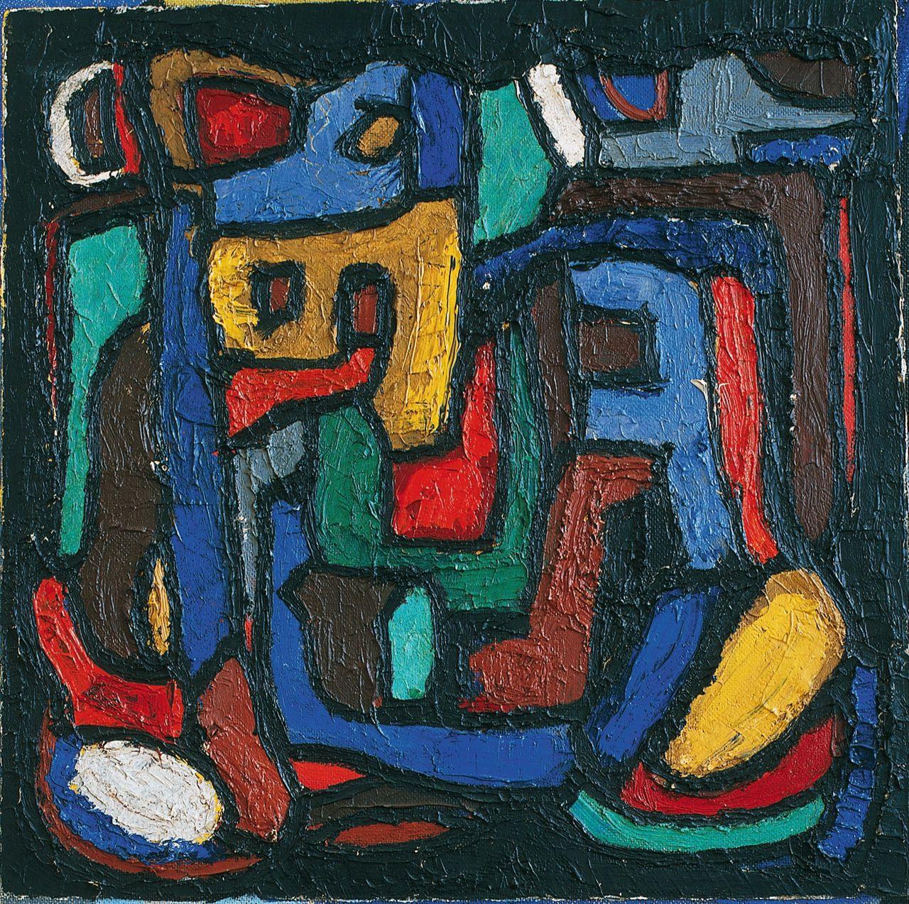 Ad Snijders, Untitled (1956). Olieverf op hardboard, 55 × 55 cm.
