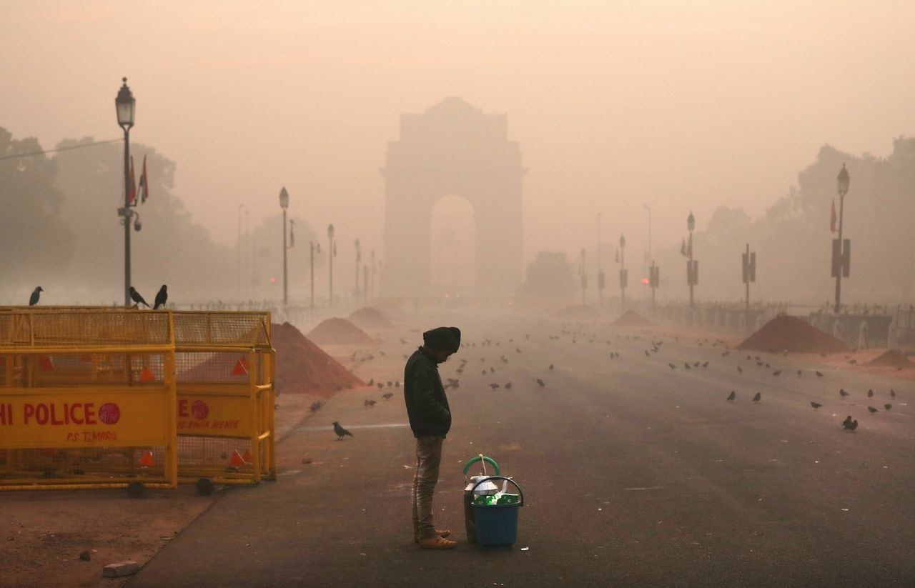 Smog in New Delhi, 26 december 2018.