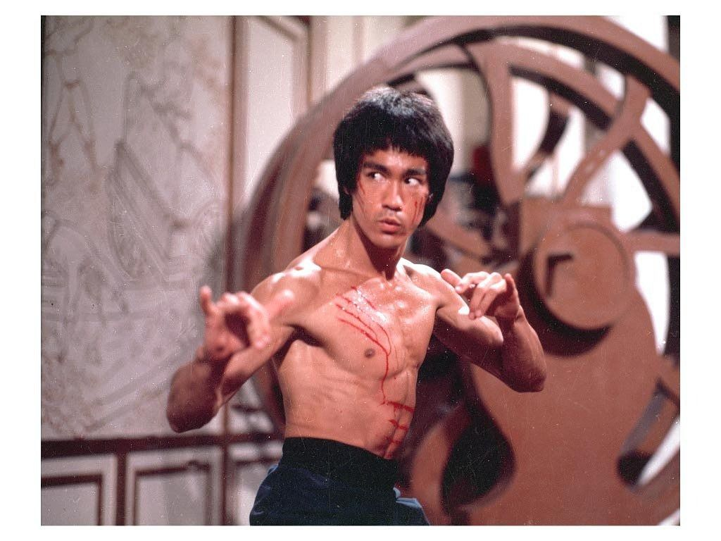 Bruce Lee in de film The Way of the Dragon