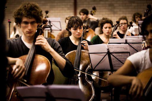 Archieffoto van het Nederlands Studentenorkest