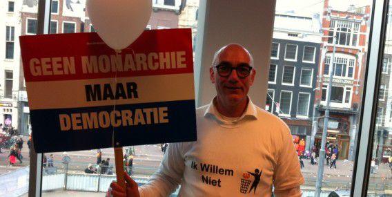 Hans Maessen gisteren op de redactie van NRC.