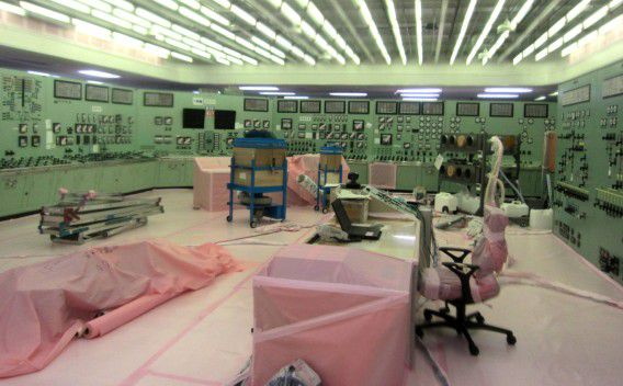 the control room for Unit 1 and Unit 2 reactors damaged by the March 11 earthquake and tsunami at the crippled Fukushima Dai-ichi nuclear power plant in Okuma, Fukushima Prefecture, northeastern Japan, is shown. Officials said the plant is now relatively stable, but tens of thousands of people still cannot, or choose not to, return to their homes because of the radioactive contamination. (AP Photo/Tokyo Electric Power Co.) EDITORIAL USE ONLY