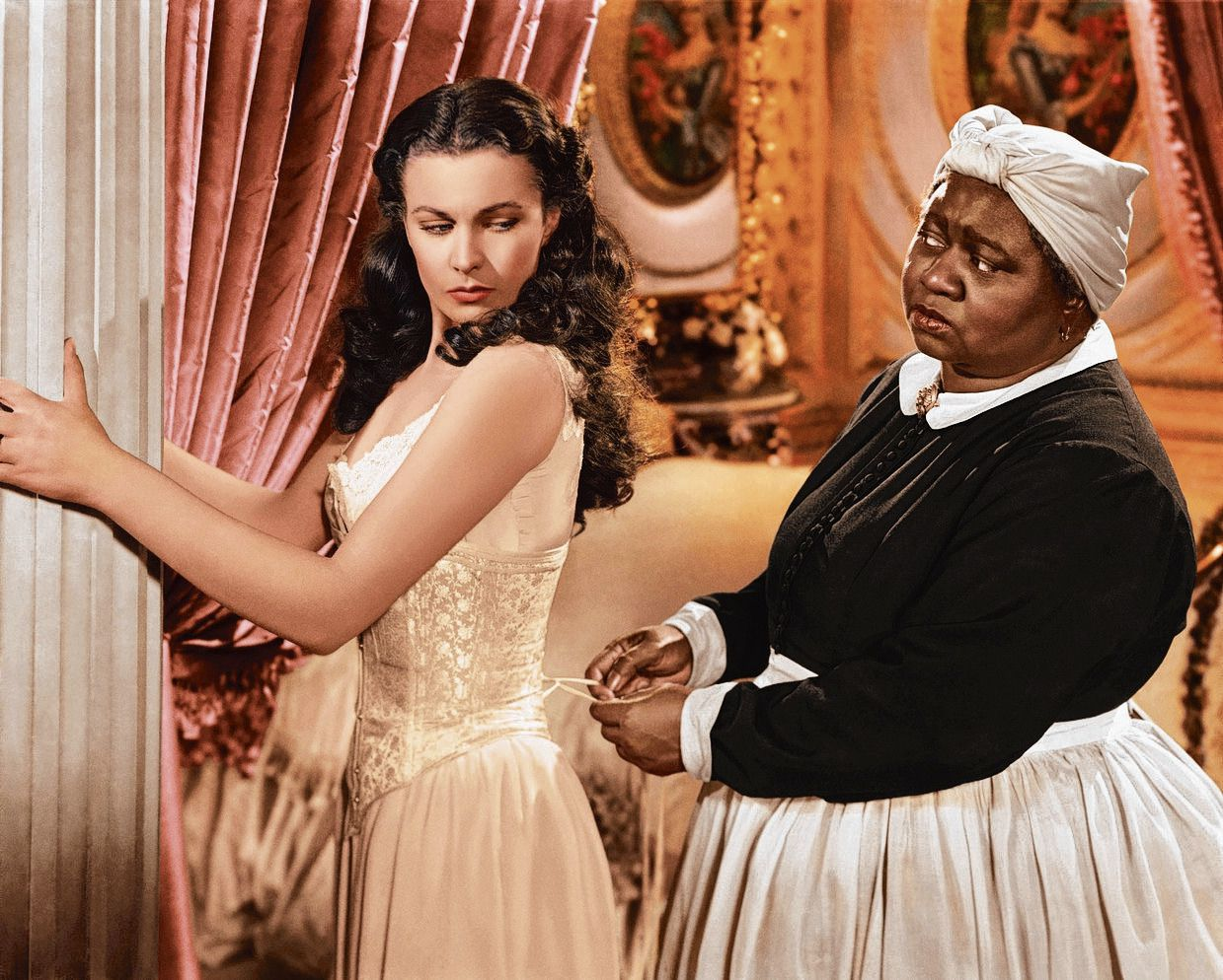 Dienstmeid Mammy in Gone with the Wind (MGM, 1939). Actrice Hattie McDaniel was de eerste Afro-Amerikaan die een Oscar won.