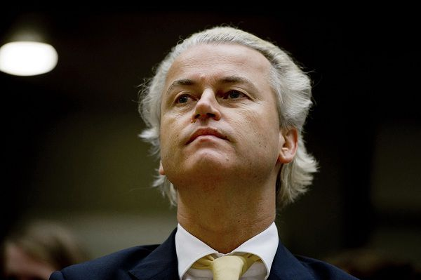 Right-wing politician Geert Wilders appears in court to hear that he is acquitted of charges relating to hate speech and discrimination, in Amsterdam, Thursday June 23, 2011, ruling that his anti-Islam statements, while offensive to many Muslims, fell within the bounds of legitimate political debate. Presiding judge Marcel van Oosten said in clearing Wilders that his claims relating to Islam and Muslim immigration, must be seen in a wider context of debate over religion and immigration policy. (AP Photo/Robin Utrecht, Pool)