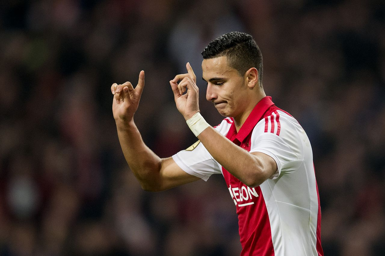The 22-year old son of father (?) and mother(?), 189 cm tall Anwar El Ghazi in 2018 photo