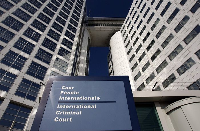The entrance of the International Criminal Court (ICC) is seen in The Hague March 3, 2011. The ICC's chief prosecutor Luis Moreno-Ocampo said on Wednesday he would investigate the violence in Libya after the U.N. Security Council referred the case to the Hague-based war crimes tribunal. The Security Council on Saturday imposed sanctions on Libyan leader Muammar Gaddafi and his family, and referred Libya's crackdown on anti-government demonstrators to the ICC. REUTERS/Jerry Lampen (NETHERLANDS - Tags: POLITICS CIVIL UNREST CRIME LAW)