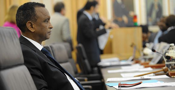 "Caption: Somalia's Vice Prime Minister Mohamed Ibrahim attends an emergency talks on the crisis at the United Nations Food and Agriculture Organization (FAO) on July 25, 2011 in Rome. The UN urged a ""massive"" effort to save millions of people in the drought-stricken Horn of Africa region, as France said donor countries would meet in Nairobi this week to step up aid pledges. AFP PHOTO / ANDREAS SOLARO Caption: Somalia's Vice Prime Minister Mohamed Ibrahim attends an emergency talks on the crisis at the United Nations Food and Agriculture Organization (FAO) on July 25, 2011 in Rome. The UN urged a ""massive"" effort to save millions of people in the drought-stricken Horn of Africa region, as France said donor countries would meet in Nairobi this week to step up aid pledges. AFP PHOTO / ANDREAS SOLARO"