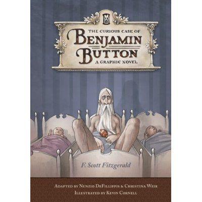 Graphic novel over Benjamin Button (l) en schetsen daarvoor (r) door Kevin Cornell