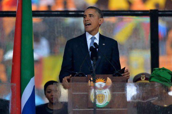 President Barack Obama tijdens zijn speech.