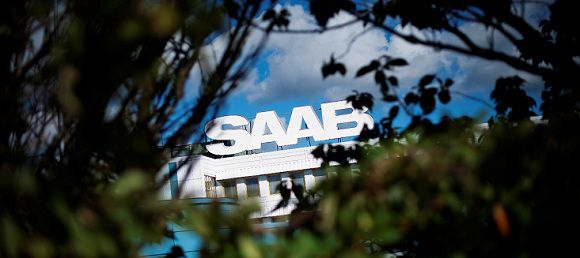 Caption: This picture taken on September 9, 2011, shows a SAAB sign on the SAAB factory in Trollhaettan, north of Gothenburg. Saab will submit on September 12 an appeal against a Swedish court's rejection of its request for protection against bankruptcy, the parent company Swedish Automobile announced. With no cash and stagnant sales, Saab, which employs 3,700 people, on September asked the court to grant it protection from its creditors. AFP PHOTO/JONATHAN NACKSTRAND