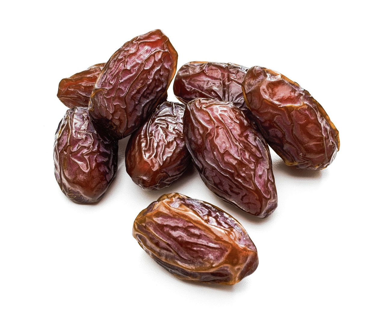 Date fruit on a white background.