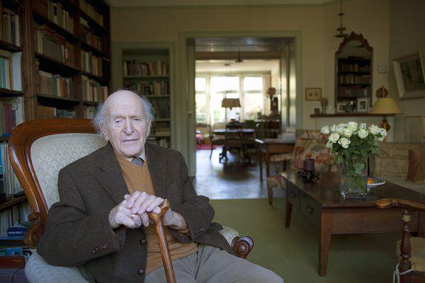 Hans KEILSON (1909) Duits-Nederlandse schrijver, arts en psychoanalyticus. foto VINCENT MENTZEL/NRCH==F/C==Nederland. Bussum, 1 december 2009