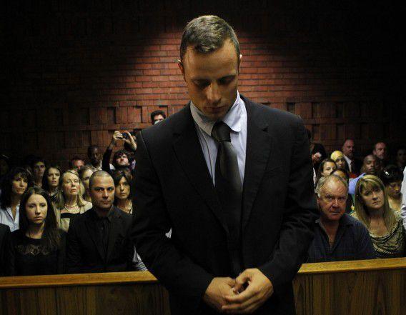 Oscar Pistorius staat terecht in Pretoria.