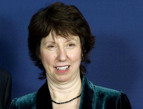 Catherine Ashton, designierte Hohe Beauftragte für die EU-Außen-und Sicherheitspolitik (EU-Außenministerin), auf dem informellen Treffen der Staats- und Regierungschefs der Mitgliedsstaaten der Europäischen Union.