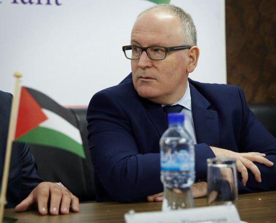Timmermans bij de opening van een kaasfabriek Al-Jebrini tijdens zijn bezoek aan Israël en de Palestijnse Gebieden. Hij was daar samen met premier Mark Rutte en Lilianne Ploumen (Buitenlandse Handel en Ontwikkelingssamenwerking).