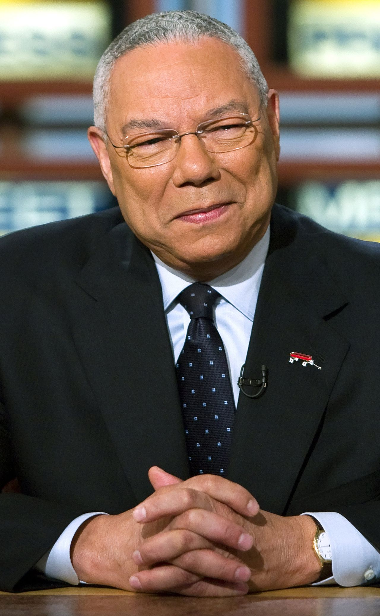 "In this photograph provided by ""Meet the Press,"" former Secretary of State Colin Powell appears during the taping of ""Meet the Press'"" Sunday, June 10, 2007, at the NBC studios in Washington. (AP Photo/Meet The Press, Brendan Smialowski) ** NO SALES, NO ARCHIVE, MUST USE BEFORE JUNE 17, 2007, MUST CREDIT ""MEET THE PRESS"" **"