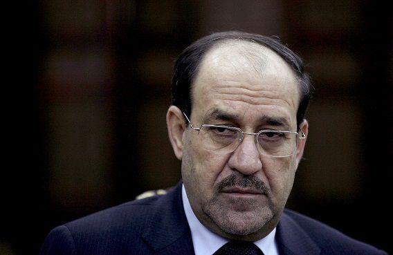 Nouri al-Maliki tijdens een interview met The Associated Press in Bagdad.