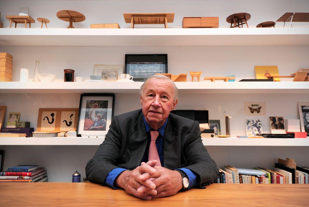 Terence Conran op de tentoonstelling 'Terence Conran: The Way We Live Now' (2011) in het Design Museum in Londen.