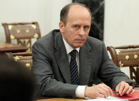 Aleksandr Bortkinov, hoofd van de Russische geheime dienst FSB, is toegevoegd aan de EU-sanctielijst.