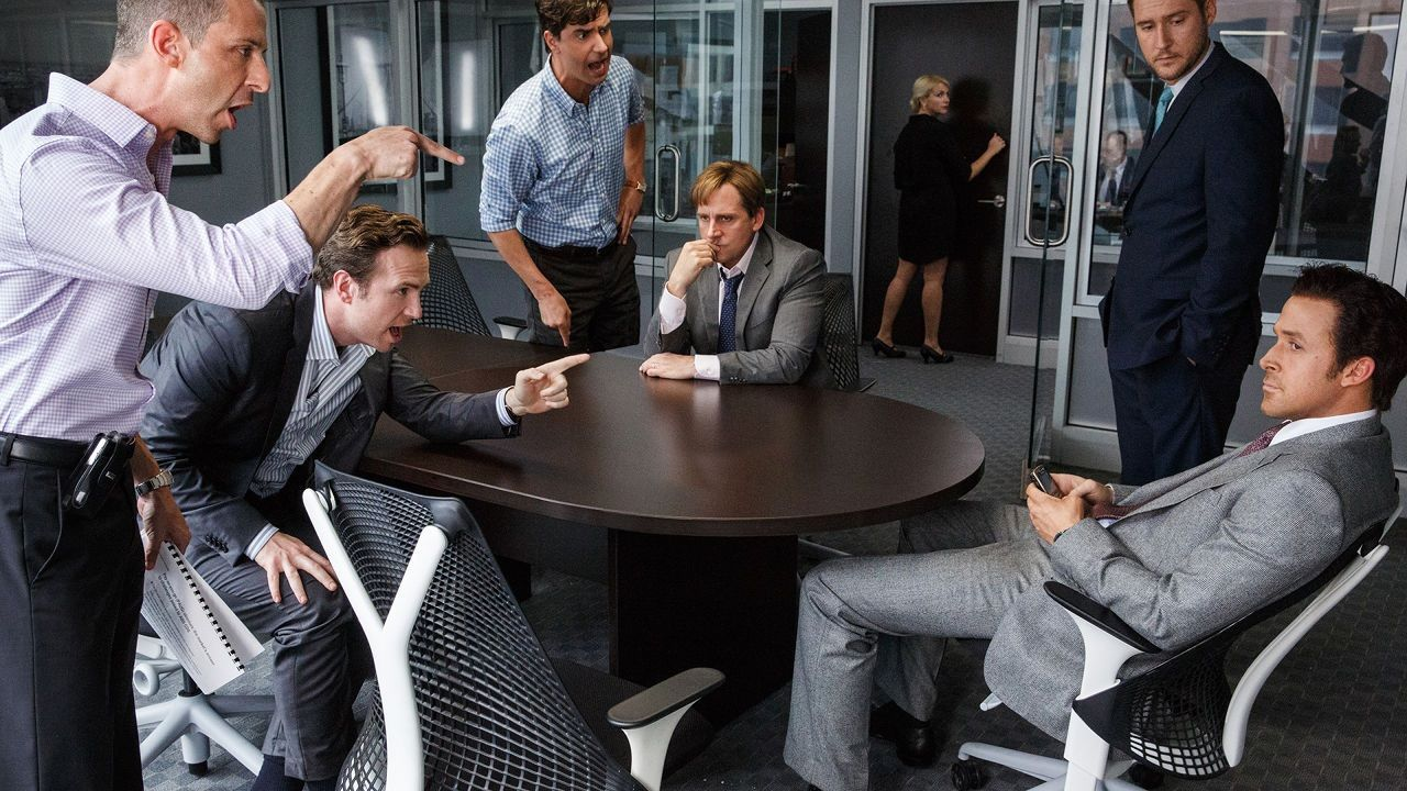 Acteurs in The Big Short, geregisseerd door Adam McKay, nu in de bioscoop.