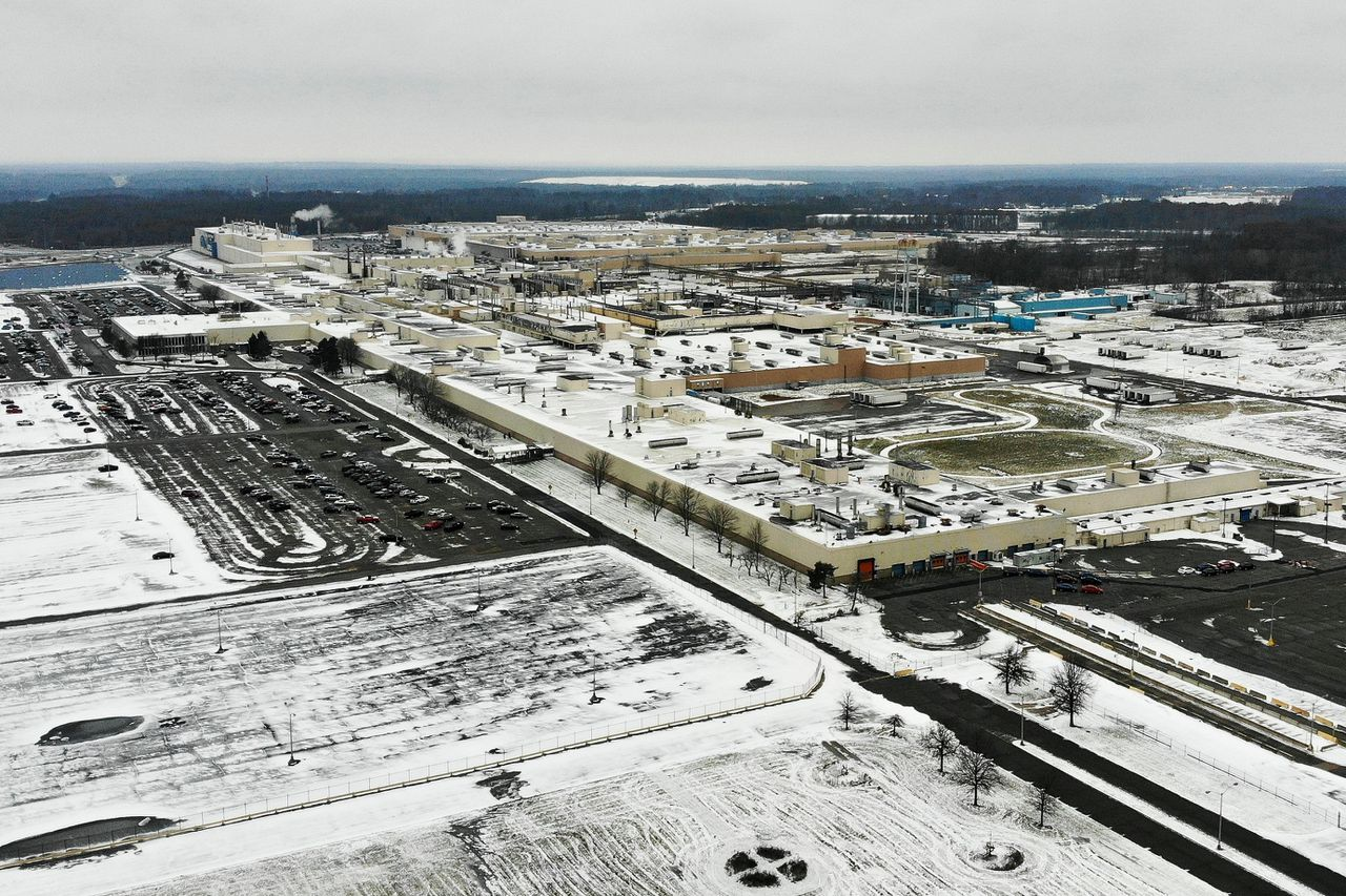 De fabriek van General Motors in Lordstown.