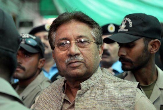 Pervez Musharraf, oud-president van Pakistan.
