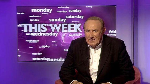 Politiek commentator van de BBC Andrew Neil