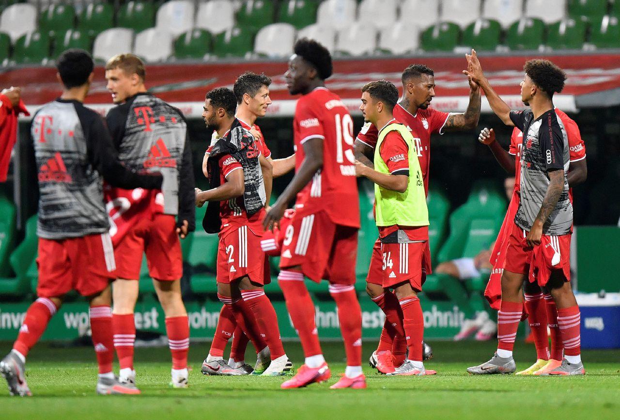 Bayern München viert de achtste verovering van de landstitel op rij.