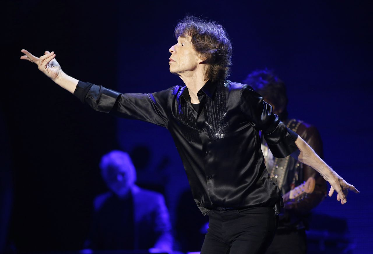 Mick Jagger of the Rolling Stones performs at the Wells Fargo Center in Philadelphia on Tuesday, June 18, 2013. (Photo by Mark Stehle/Invision/AP)