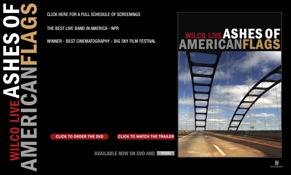 Dvd pop Wilco live – Ashes of American flags Regie: Christoph Green e.a. € 20,70 * * * *