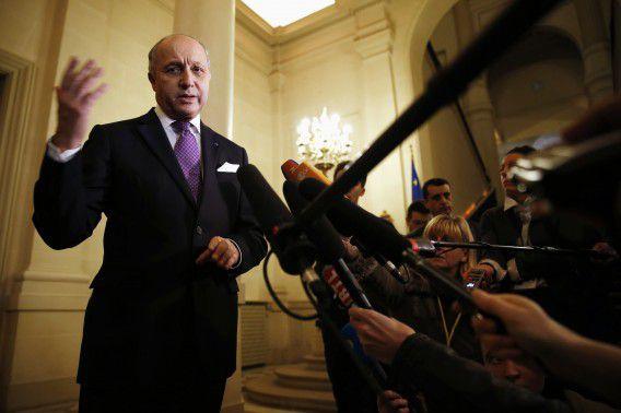 De Franse minister van Buitenlandse Zaken Laurent Fabius.