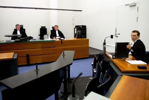De advocaat van Sabir K., Andre Seebregts, is aan het woord tijdens het kort geding in februari.