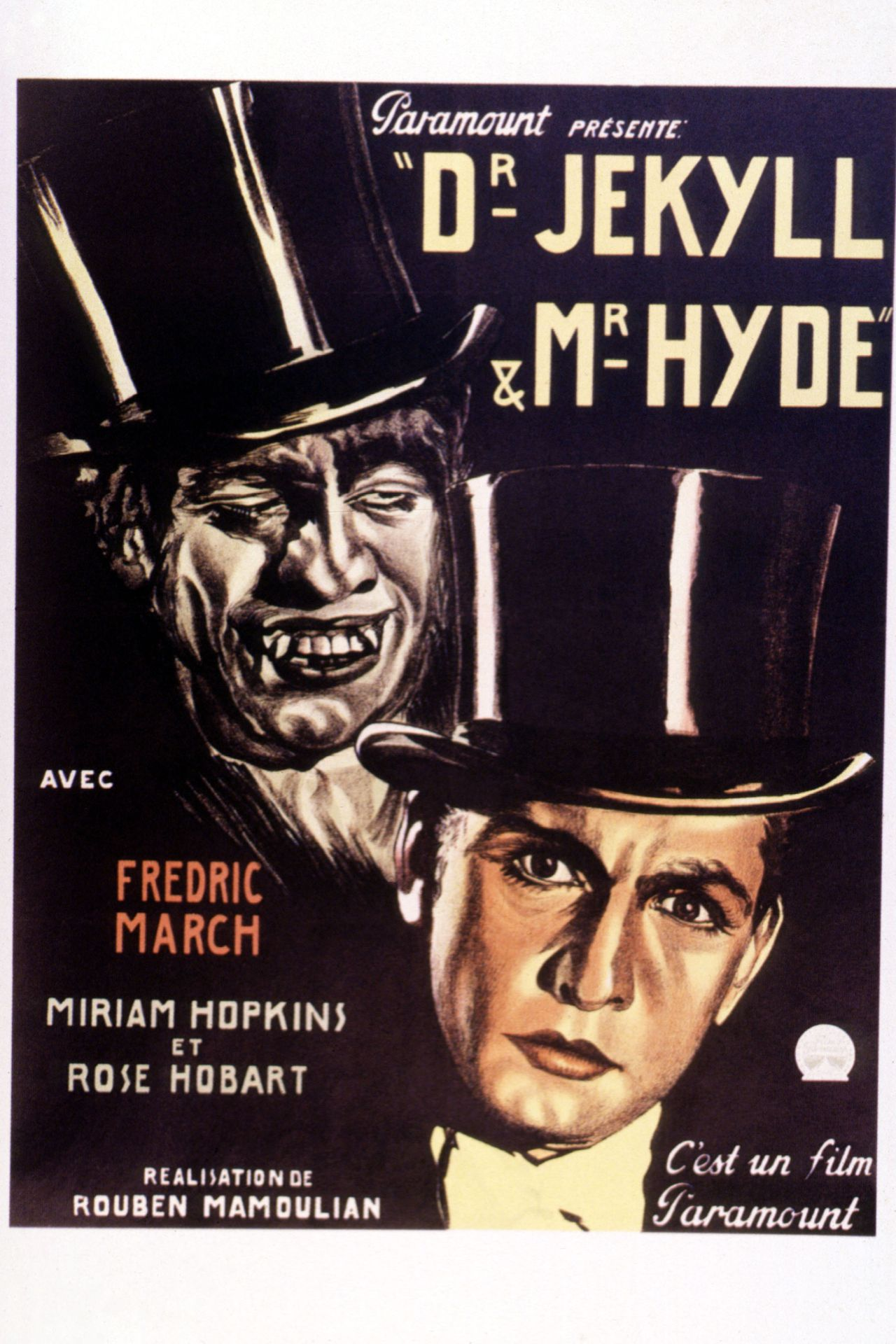 Dr Jekyll and Mr Hyde 1931 Rouben Mamoulian Fredric March Movie poster