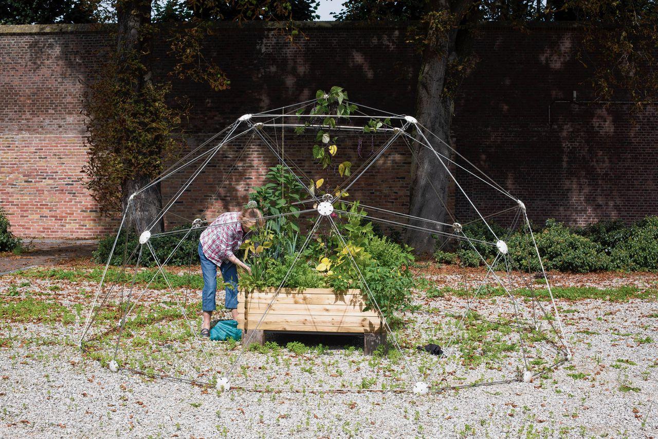 Mobiele groentetuin van de Belgische kunstenaar Jean-François Paquay