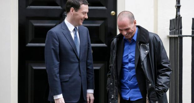 De Britse minister van Financiën, George Osborne, ontving begin februari zijn toenmalige Griekse collega Yanis Varoufakis