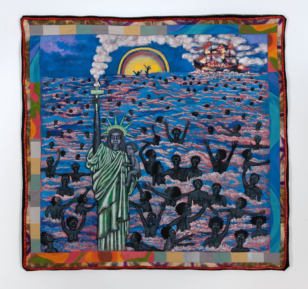 Faith Ringgold. Links: American Collection #1: We Came to America (1997)