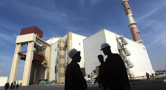 Caption: (FILES) A picture dated October 26, 2010 shows the reactor building at the Russian-built Bushehr nuclear power plant in southern Iran, 1200 Kms south of Tehran. A report into Iran's nuclear programme by the International Atomic Energy Agency (IAEA) is expected November 8, 2011, amid a spike in tension as Iran accused Israel and the United States of seeking world support for a military strike on its nuclear facilities. AFP PHOTO/MEHR NEWS/MAJID ASGARIPOUR