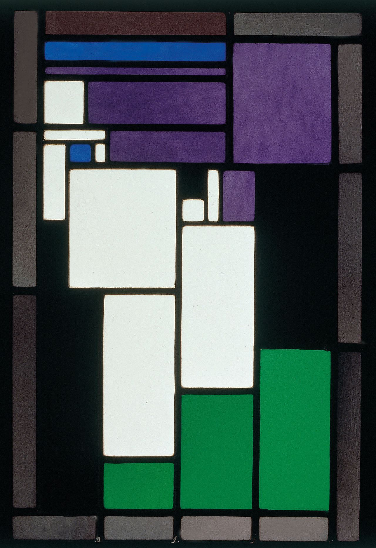 'Stained Glass Composition: Female Head' (1917) by Theo van Doesburg, is seen in this undated handout photograph released to the media on Monday, Feb. 8, 2010. It is on show in the exhibit 'Van Doesburg & The International Avant-Garde' at Tate Modern, in London, U.K., through May 16. Source: Kroller-Muller Museum via Bloomberg EDITOR'S NOTE: NO SALES. EDITORIAL USE ONLY